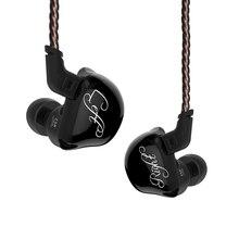 KZ ZSR 6 Treiber Anker + Dynamische Hybrid Headset HIFI Bass Noise Cancelling Ohrhörer In Ohr ZSNPRO ZS10PRO ZSX C12 AS10 ZST