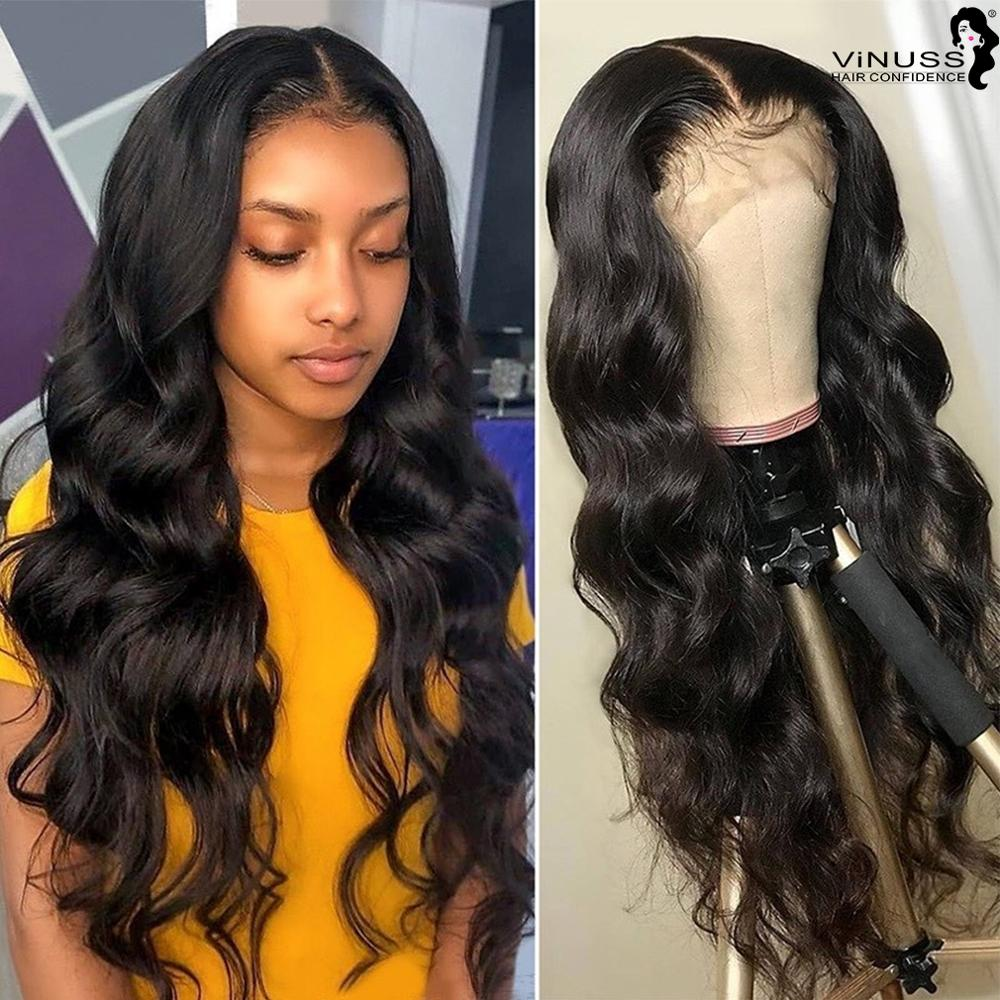 13x6 Lace Front Human Hair Wigs Pre Plucked Hairline Body Wave Lace Wig Baby Hair Bleached Knots Deep Parting For Black Women