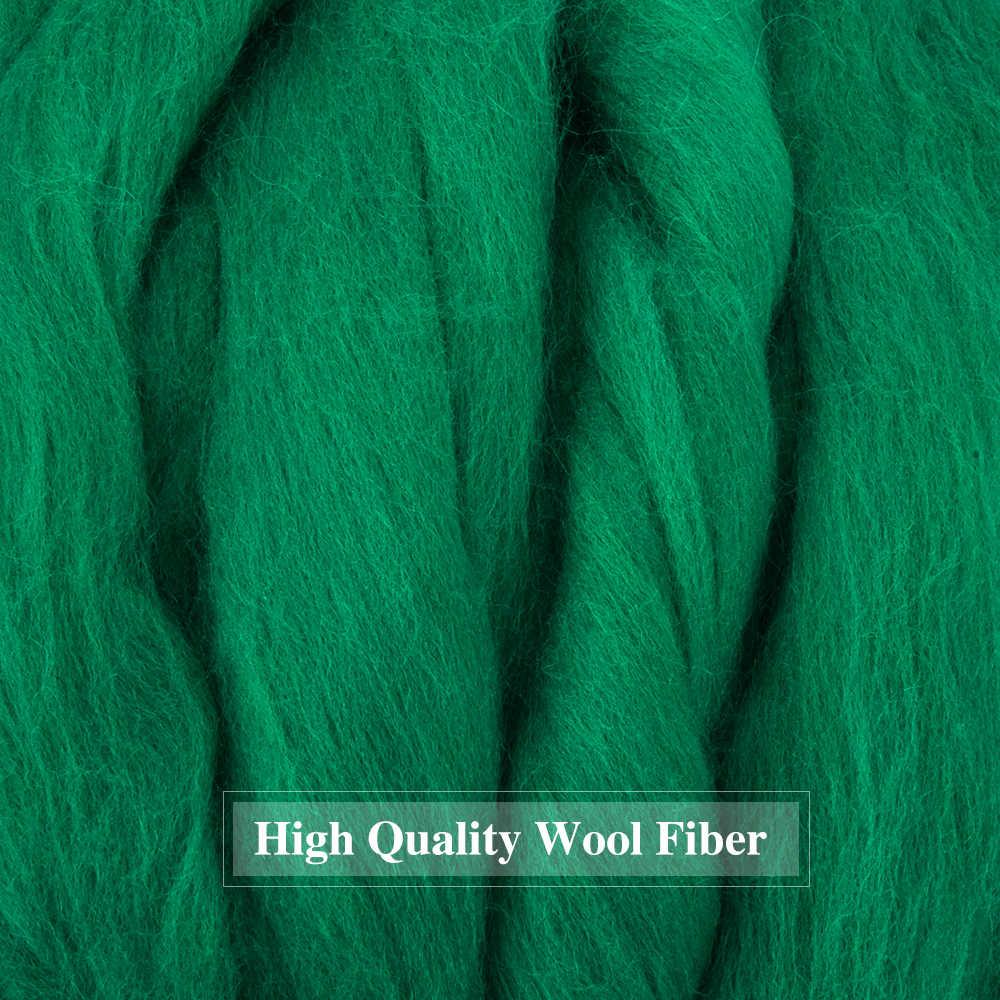500g wędkarstwo Spinning tkania wełny włókna igły filcowania wełny miękkie filcowania wełny topy dla igły filcowania ręcznie przędzenia DIY materiał