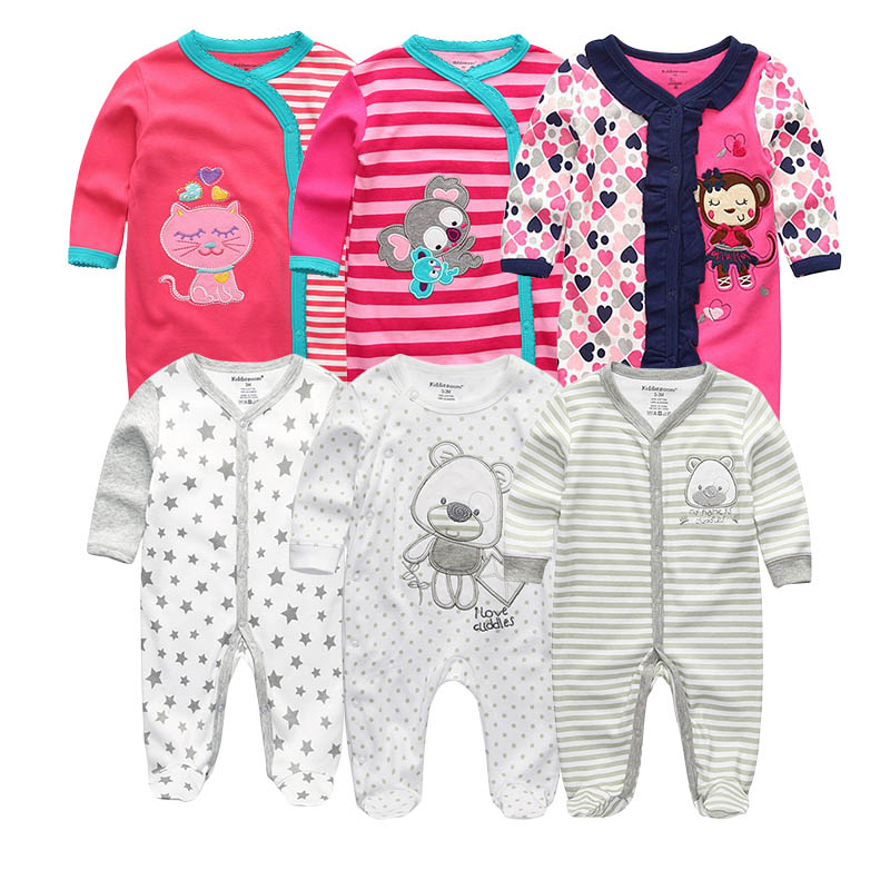 2019 Baby Girl Clothes Cotton Girls Baby Clothing Newborn Bodysuits One-Pieces Baby Boy Clothes 1/2/3/5/6PCS Roupa de bebe 1