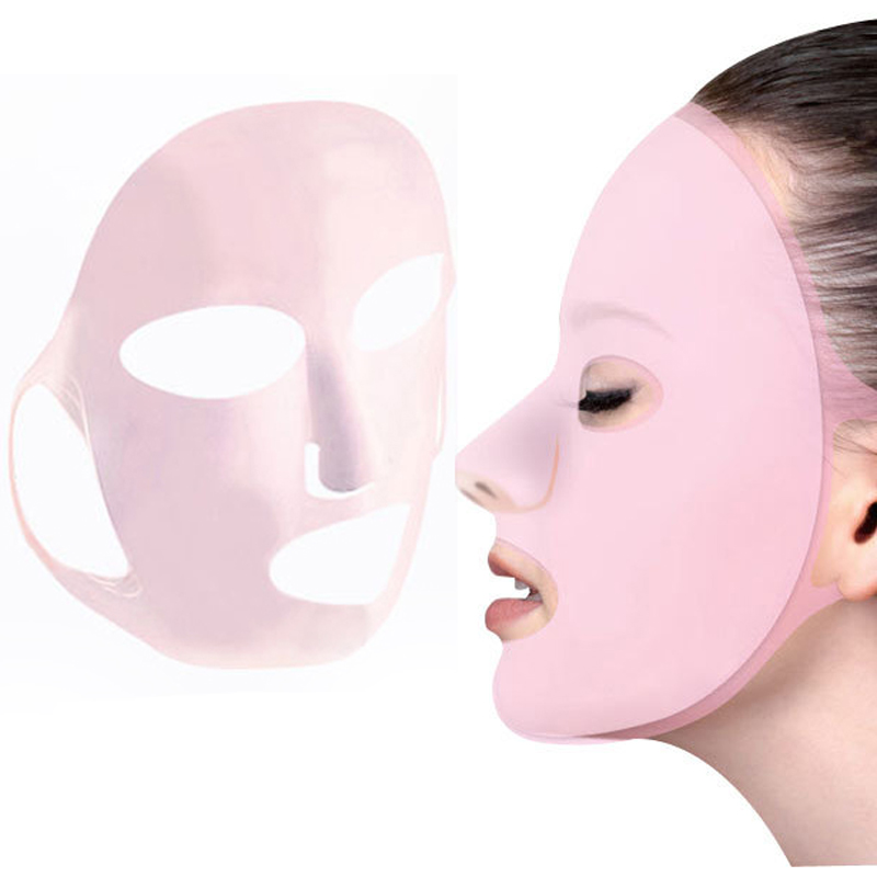 1/2/3/5Pcs Unisex Reusable Silicone Face Mask Ear Fixed Prevent Essence Evaporating Sheet Mask Anti-off Mask Firming Face Masks