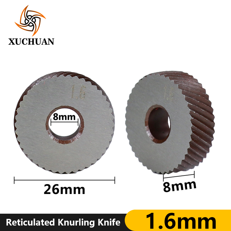 1.6mm Reticulated Knurling Knife Knurling In Lathe Gear Shaper Cutter Inner Hole Embossing Reticulated Knurling Wheel