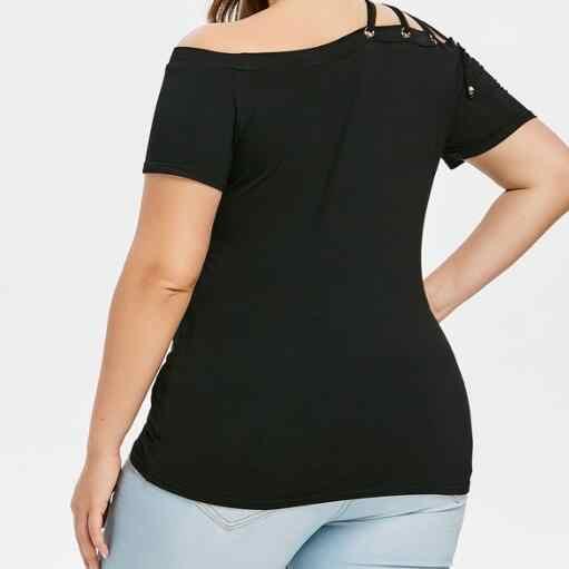 Vrouwen Sexy Blouse Shirt Herfst Zwart Femme Losse Tops Plus Size XL-5XL WF618