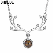 SHDEDE Womens Necklaces Jewelry Pendants Fashion Classic Cubic Zirconia Ladies Female Party Accessories  +WH520 цена 2017