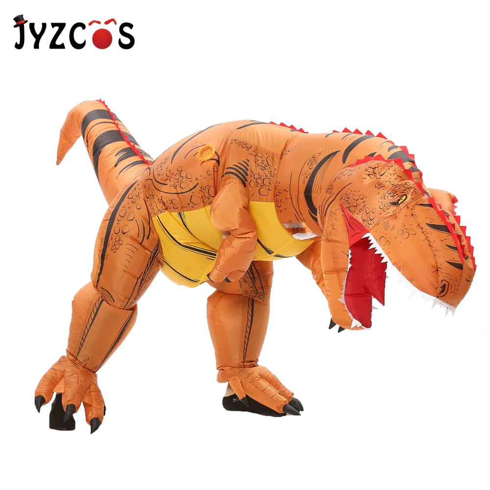 Inflatable T-Rex Dinosaur Rider Costume Adult//Kids Halloween Blowup Party Dress