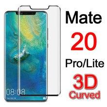 Protetor de tela de vidro temperado mate 20 pro, protetor de vidro para huawei mate20 20pro lite 20lite 3d curvo filme filme