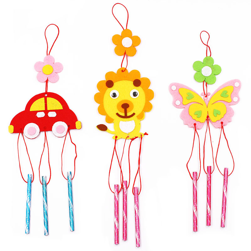 Montelisso DIY Children Educational Toy Fabric Campanula Wind Chime Kindergarten Manual Art Training Early Intellectual Toy Gift