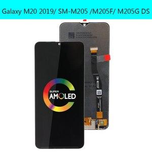 Image 2 - 6.3 삼성 갤럭시 M20 2019 SM M205 M205F LCD 디스플레이 터치 스크린 디지타이저 어셈블리 교체 부품에 대한 새로운 AMOLED