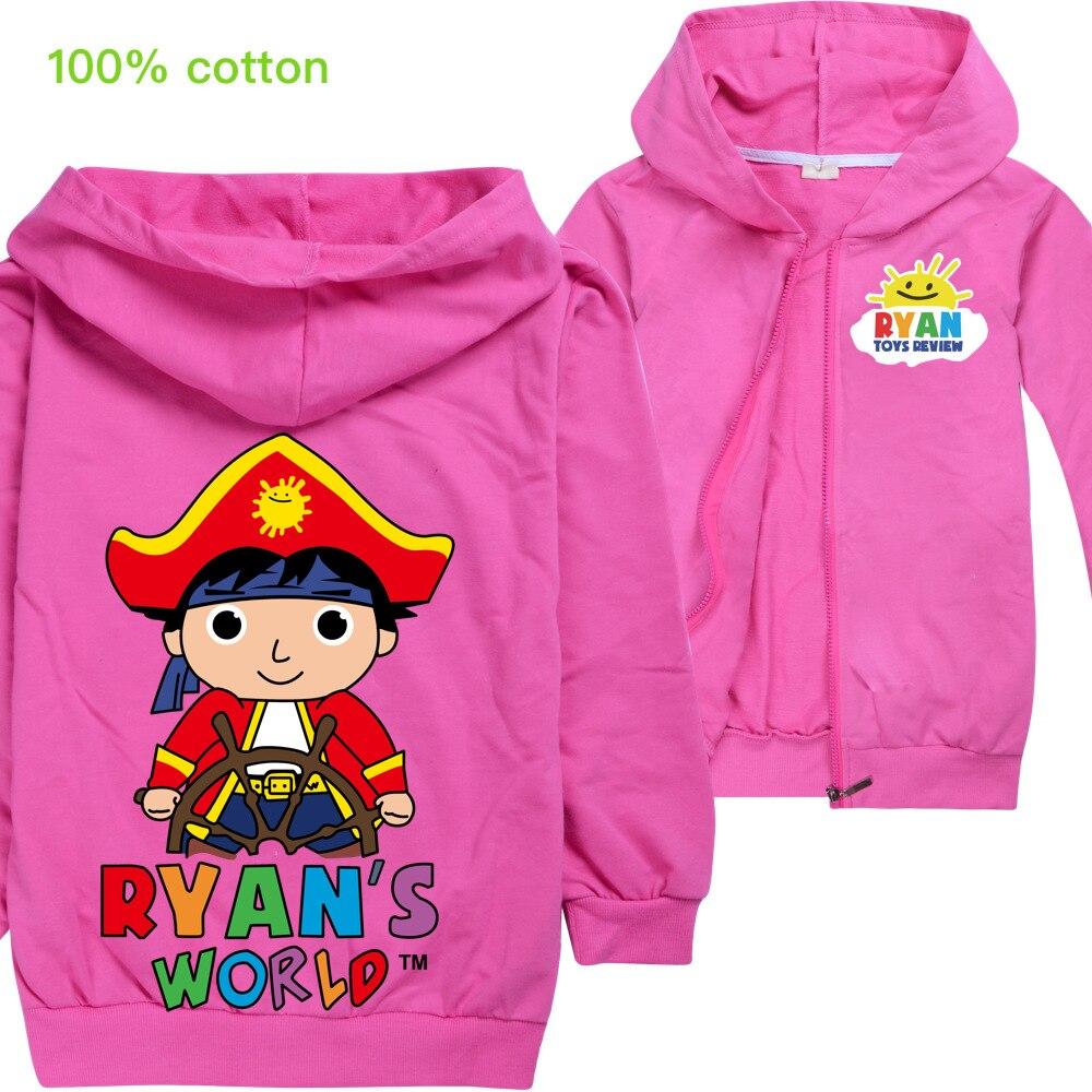 Модные толстовки с капюшоном, Куртка Верхняя одежда футболка маскарадный костюм для девочек, одежда подарок на день рождения, Ryan Toys Review, для
