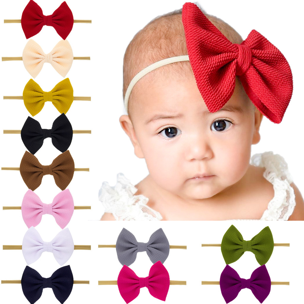 Newborn Toddler Kid Baby Girls Bow Turban Baby Headband Headwear Baby Hair Accessories Bandeau Bebe Fille Шапка Детская 2019