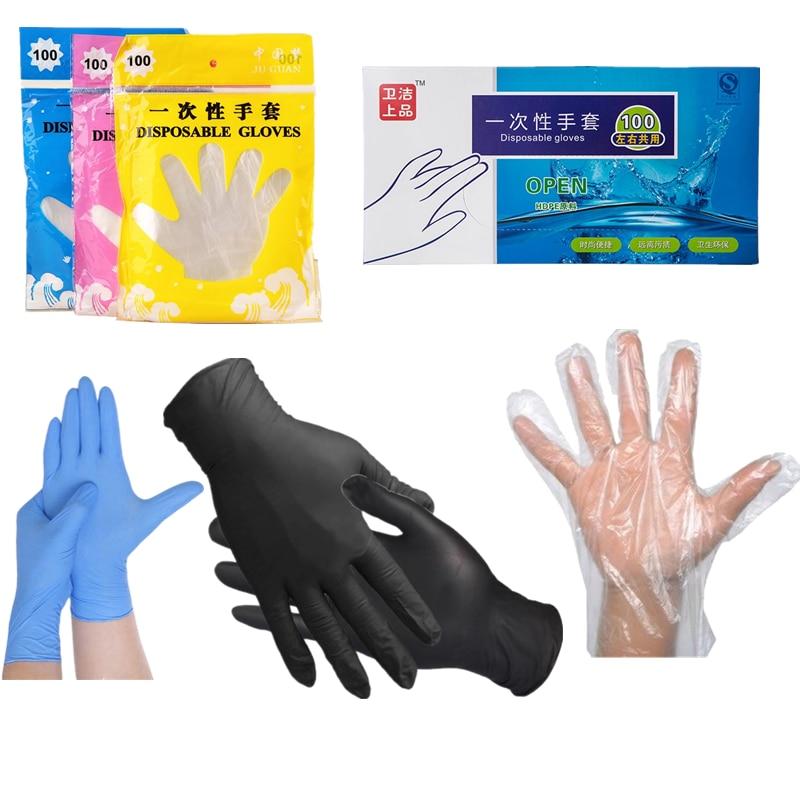 100PCS 20PCS 2PCS Disposable Gloves Latex Universal Kitchen/Dishwashing/Work/Rubber/Garden Gloves Hand Protection