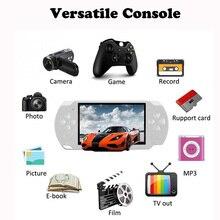 Consola de juegos portátil Pantalla de 4,3 pulgadas reproductor mp4 reproductor de juegos MP5 soporte real de 8GB para juegos de 32 bits de 8 bits, cámara, video,e book