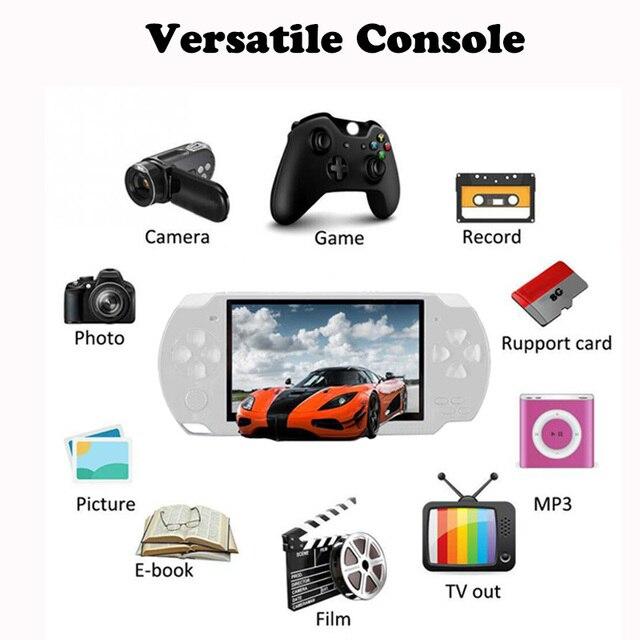 Elde kullanılır oyun konsolu 4.3 inç ekran mp4 çalar MP5 oyun oyuncu gerçek 8GB desteği 8Bit 16bit 32bit oyunları, kamera, video, e kitap