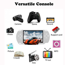 Handheld Game Console 10,000 Games 4.3 Inch Screen Mp4 Player Mp5 Game Player Real 8G 8Bit 16bit 32bit Games Camera Video e-book onn v8hd 8g mp5 player pink