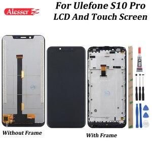 Image 1 - Alesser для Ulefone S10 Pro ЖК дисплей Дисплей и сенсорный экран Экран 5,7 с рамкой испытано в сборе для Ulefone S10 Pro Чехол для телефона + Инструменты + чехол