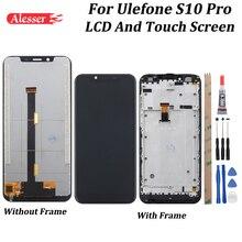 Alesser ulefone S10 proのlcdディスプレイとタッチスクリーン5.7 フレームテストアセンブリulefone S10プロ電話 + ツール + ケース