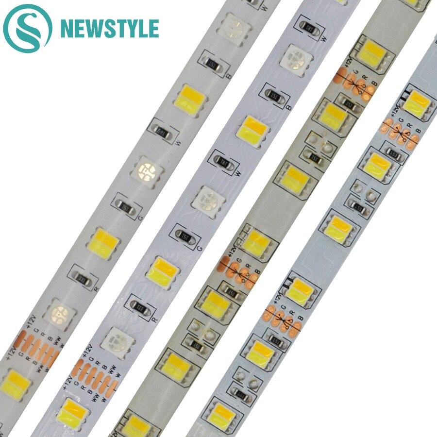 5 M 12V 24V 5050 SMD LED Colorful Light Strip RGBCCT CCT Flexible Heat-Resistant Living Room Bedroom Ceiling LED Light Strip