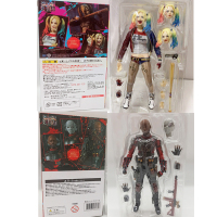 SHF Suicide Squad Sexy Harley Quinn Figure Deadshot Death Shooter  Action Figure Toy Doll Gift