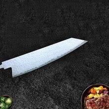 Couteau de Chef de cuisine en filet d'acier damas fait à la main, lame vierge, motif torsadé, 8 pouces