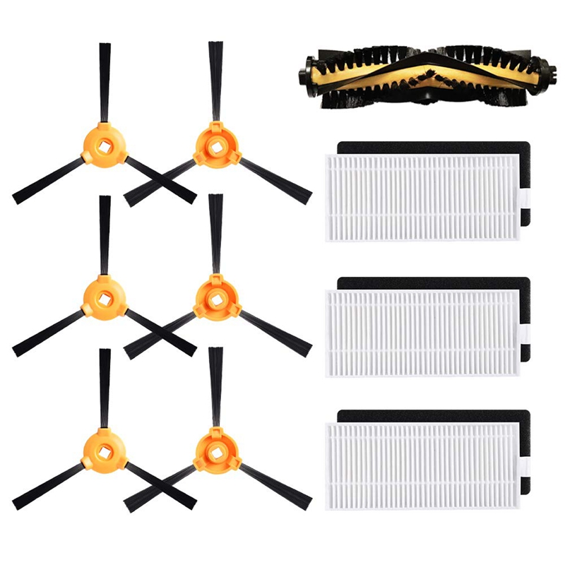 Replacement for Deebot N79S Main Brush, Filter, Side Brush Accessory Kit Ecovacs N79 Robotic Vacuum Cleaner