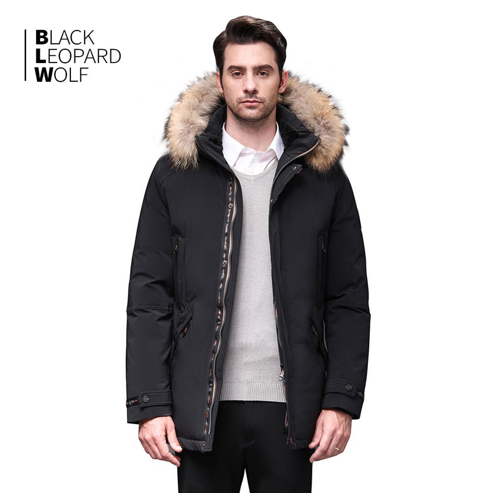 Blackleopardwolf 2019 Winter Jacket Men Coat Men Parka With Luxury Fur Detachable Raccoon Fur Thick Windproof Outwear BL-989M