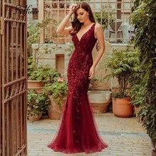 Женское облегающее платье макси с V образным вырезом, вечерние платья русалка, лето 2020