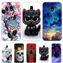 For Samsung Galaxy J3 2017 Case Silicone Cover J330 J330F Phone Cases Cat Animal Bag