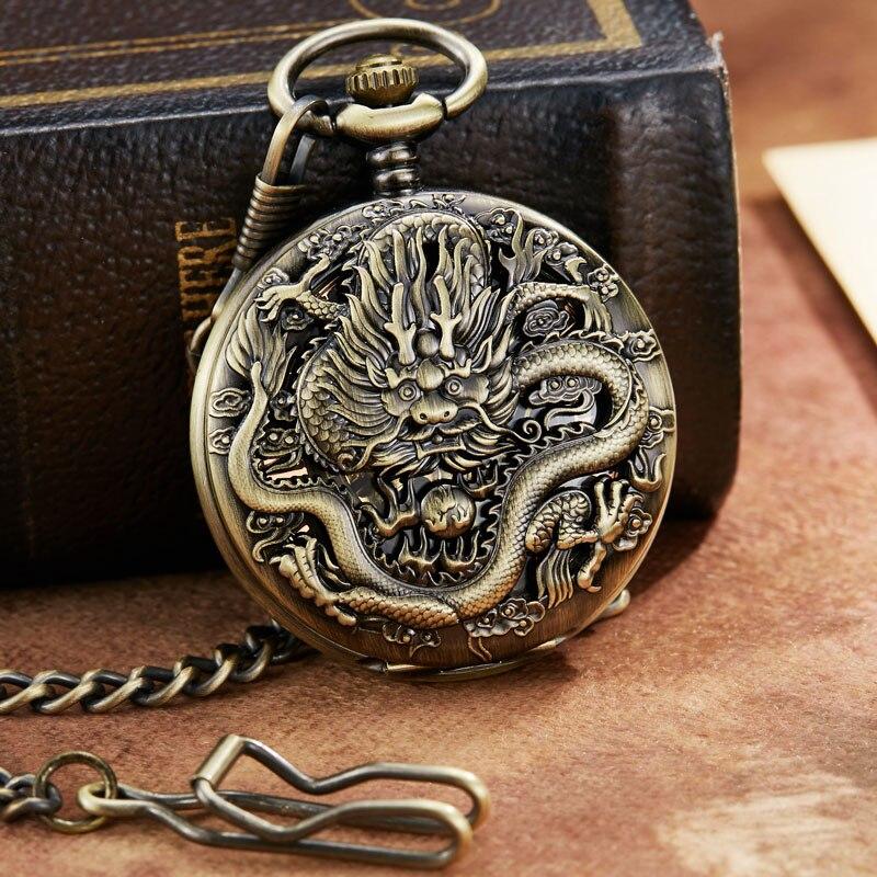 mecânico relógio de bolso corrente pingente mão
