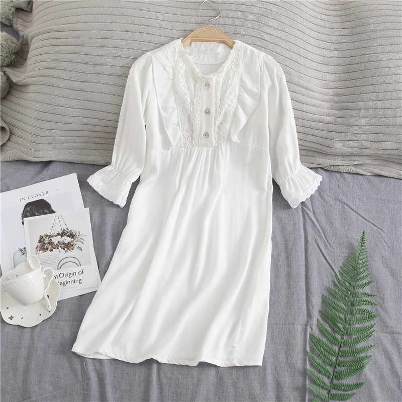 Girls-Long-Nightgown-Family-Pajamas-Sleeping-Skirt-Sweet-Princess-Mother-and-Daughter-Long-Sleepwear-Dress-Mommy (1)