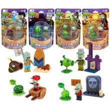 Plants Vs Zombies Action Scene Model Bricks Compatible With Building Blocks For Children Educational Toys все цены