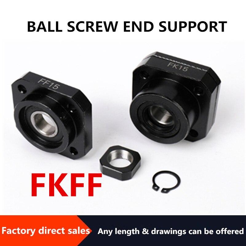 FKFF20 Screw Support Bracket Fixed Bracket Linear Bearing FKFF20/ FK20/FF20for Ball ScrewSFU2505/SFU2510