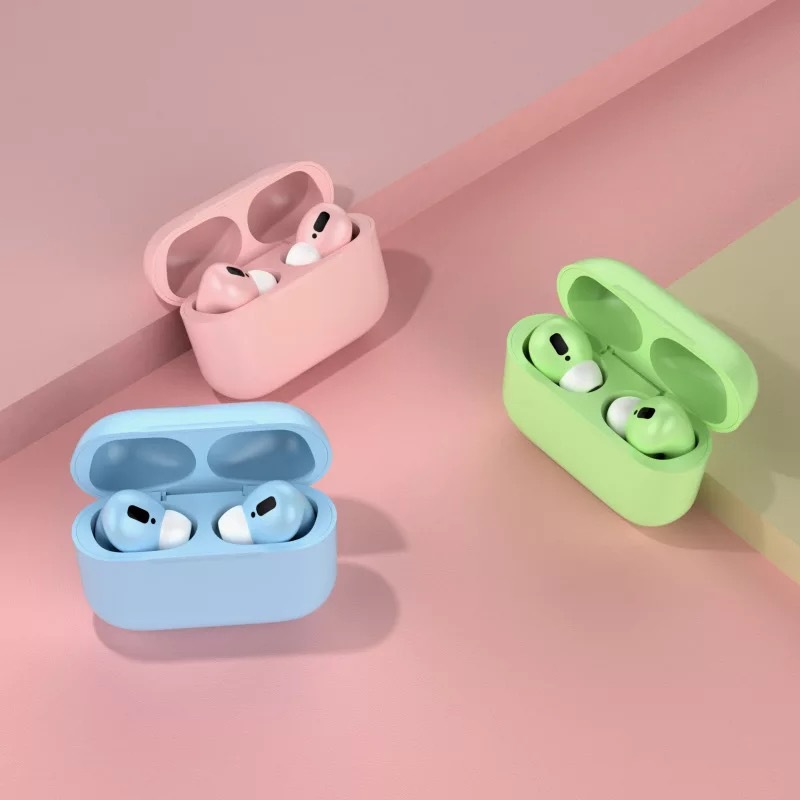 Dropshipping Macaron Color Pro3 Wireless Bluetooth Earbuds Real Battery Headset With Microphone