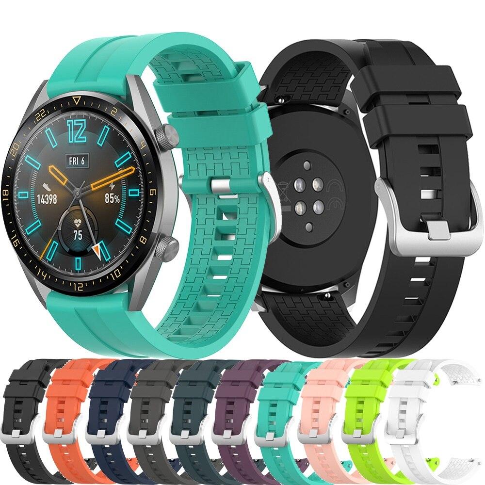 Ремешок силиконовый для Huawei watch GT2 / samsung Gear S3 /active 2/Amazfit GTR 46 мм 42 мм, 22 мм/20 мм