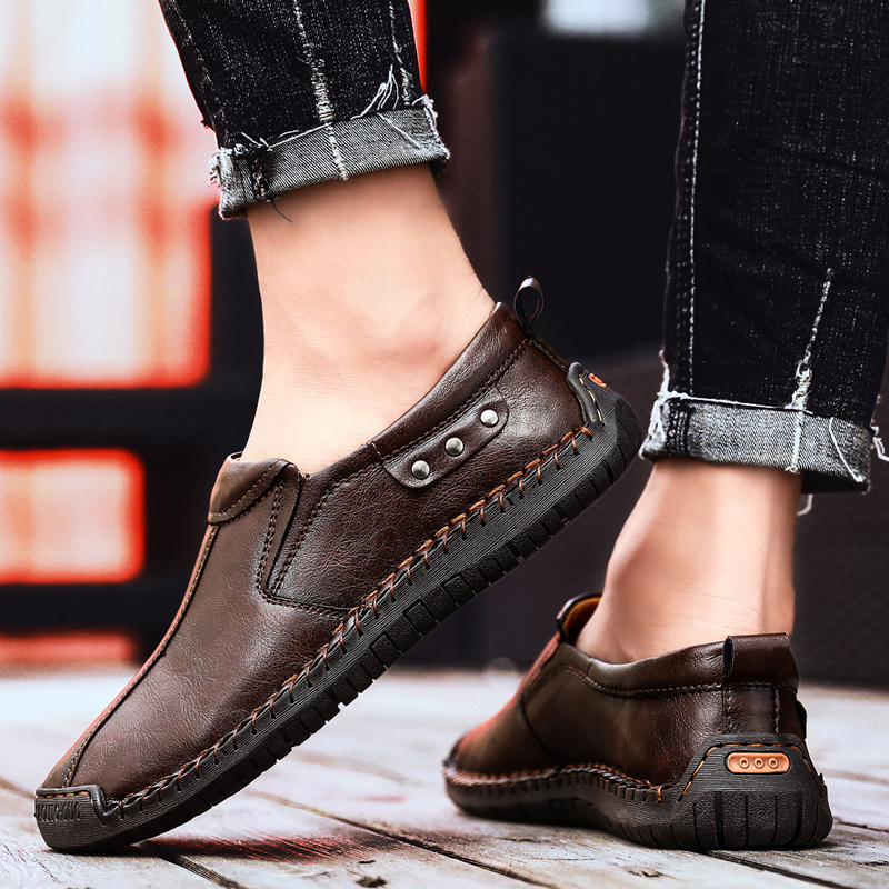 New Big Size 38-48 Men Casual Shoes Loafers Spring and Autumn Mens Moccasins Shoes