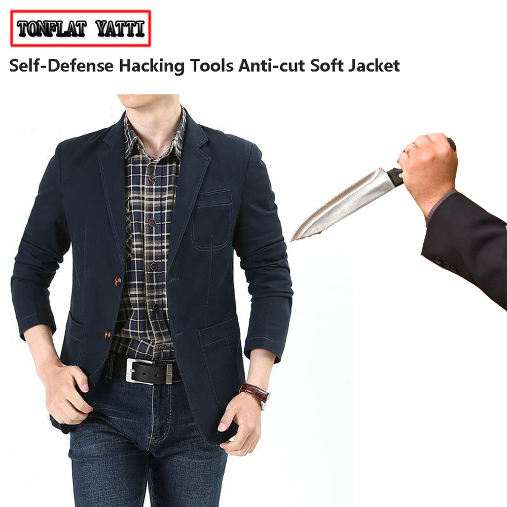Tactical Anti-stab Anti-cut Leisure Blazer Self-defense Flexible Stealth Hacking Fbi Swat Police Security Protection Clothing
