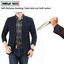 Tático anti-facada anti-corte lazer blazer auto-defesa discrição flexível hacking fbi swat roupas de proteção de segurança da polícia