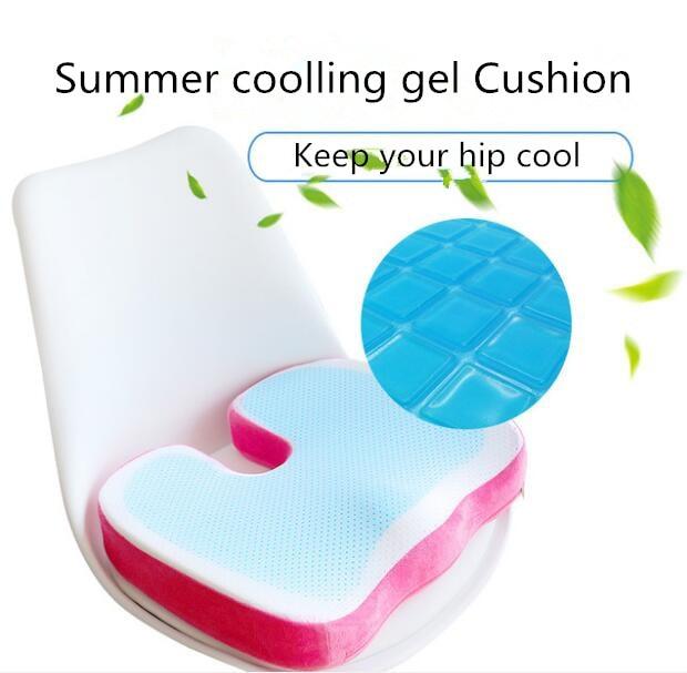 Office And Car U Shape Cushion Silicone Gel Memory Foam Coccyx Cushion
