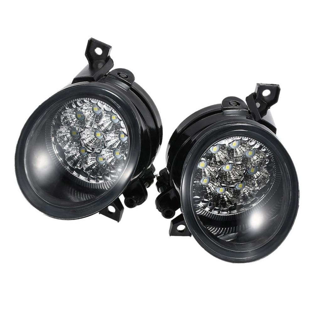 2pcs Car Led Fog Lights Bright White Lamp Left Right For Mk5 2005 2009 Golf Mk5 2003 2009 Car Fog Lamp