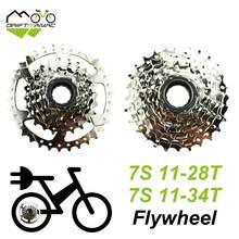 Drift mâac bicicleta 7s roda livre 11-28t/11-34t, volante de 7 velocidades para bicicleta elétrica