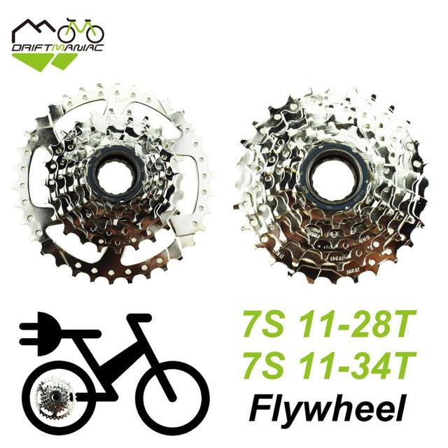 DRIFT MANIAC Bicycle 7S Freewheel 11 28T/11 34T 7 Speeds Flywheel For Electric Bike