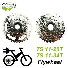 Drift mâac bicicleta 7s roda livre 11 28t/11 34t, volante de 7 velocidades para bicicleta elétrica