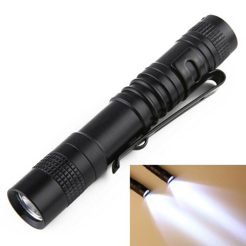 New XPE-R3 LED Flashlight Clip Mini Stylus Light Penlight Portable Pen Torch Short Style 9cm Flashlight Stick