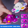 Novelty Push Bubble Pops Fun Fidget Toys flip Anime Three sides Mood Expression Anti Stress Spinning Gift Adult Kids Toy
