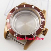 41mm sapphire glas Bronze beschichtet uhr fall fit ETA 2836 Miyota 8215 bewegung C102 movement movement watch  -