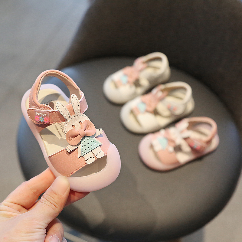 Summer Baby Girls Sandals Infant Toddler Sandals Rabbit Soft Bottom Non-slip Kids Anti-collision Sandals Children Casual Shoes