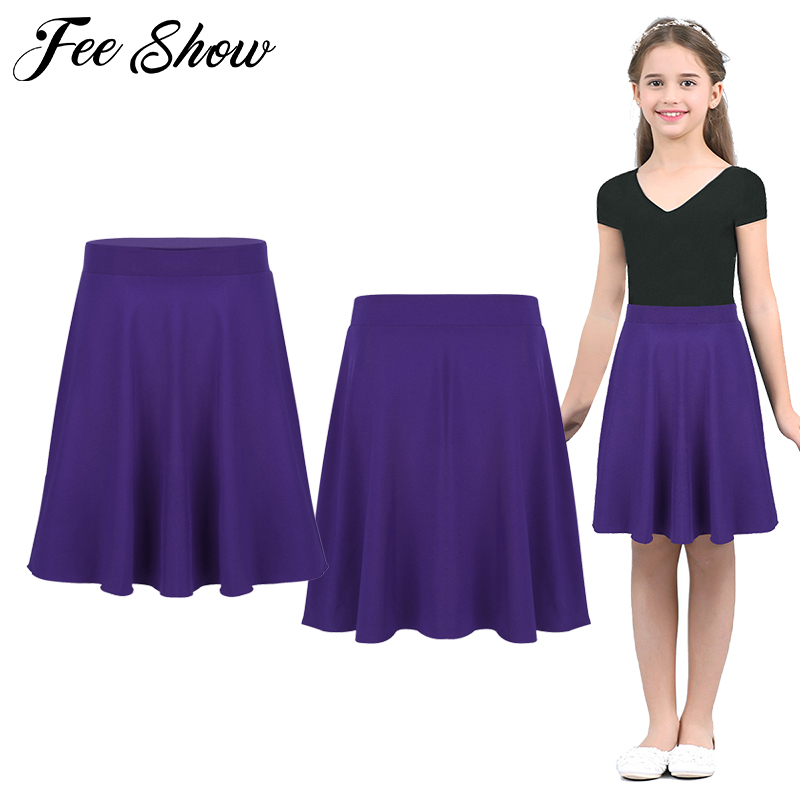 Girls A-line Skirt Kids School Uniform Pleated Skater Skirts Party Casual Dress
