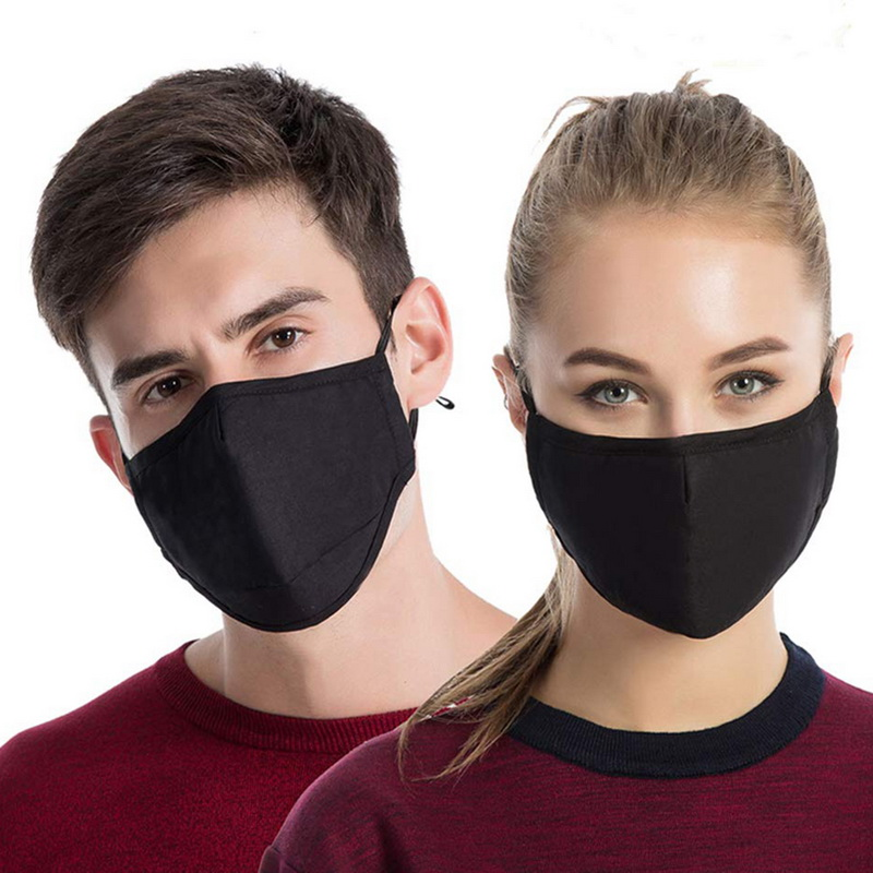 Mask Cotton Breathing PM2.5 Face Mouth Mask Dust-proof And Haze Filter Black Mask Civil Man And Woman Winter Mask
