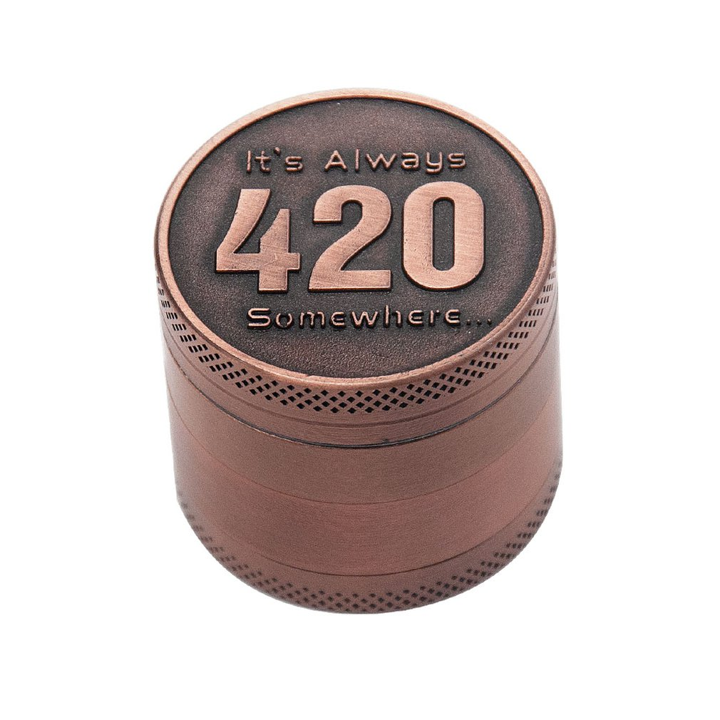 Smoking Accessory  Crusher High Quality 40mm Copper Metal Spice Tobacco Herb Grinder For Smoker