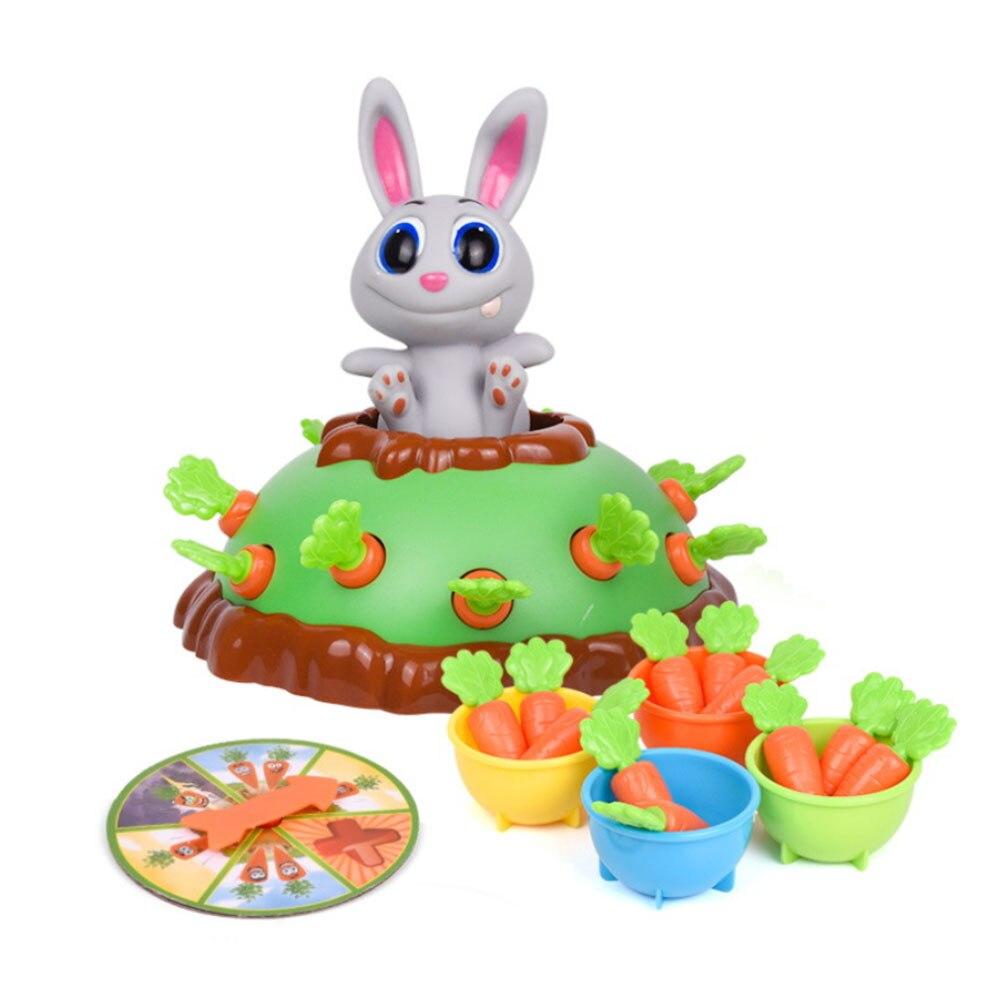 Pull-up électrique lapin carotte jouet pare-chocs drôle jouets radis jeu interactif ABS plastique Table jeu pour enfants jouet éducatif chaud