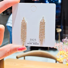 2021 moda pendientes jóias de diamante temperamento longo borla brincos para feminino personalizado versátil brincos